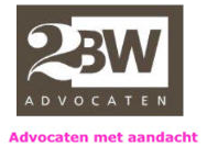 2BW Advocaten Blickfang communicatie